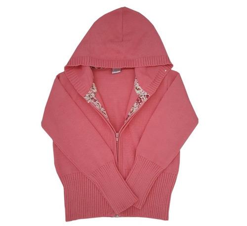 campera con capucha hilo niñas rosa viejo t.2 al 12- pompas