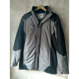 Campera Con Capucha Impermeable Spx Gris Y Negro 48