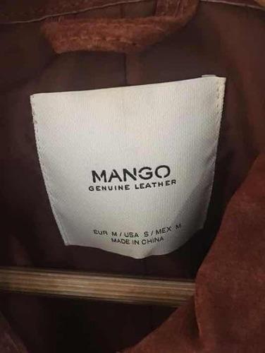 campera cuero mango original importada. nueva!!original usa