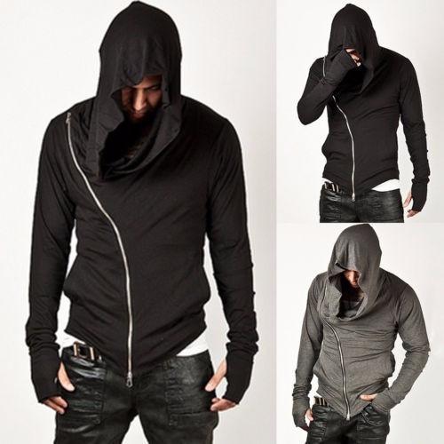 campera dark en punta capucha y puños minimalstore