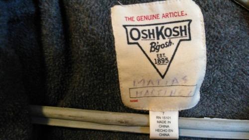 campera de abrigo oshkosh para niño