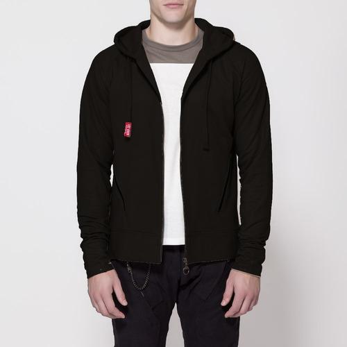 campera de algodon ls2 zip hoodie arlit negro yuhmak