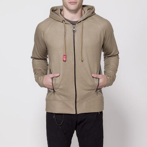 campera de algodon ls2 zip hoodie arlit tostada yuhmak