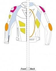 campera de cuero  dainese  avro d1 pelle p/moto deportiva