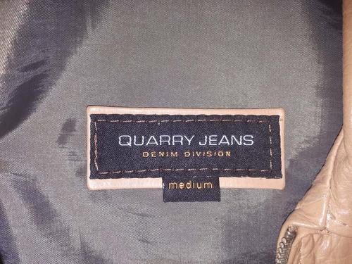 campera de cuero dama quarry talle s