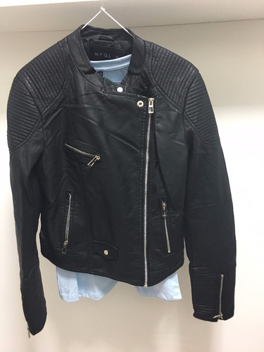 campera de cuero eco biker,  chaquetas de cuero importada