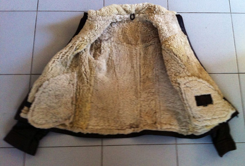 campera de cuero legítimo con piel de cordero/ mujer/ nueva