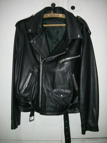 campera de cuero rockera moto