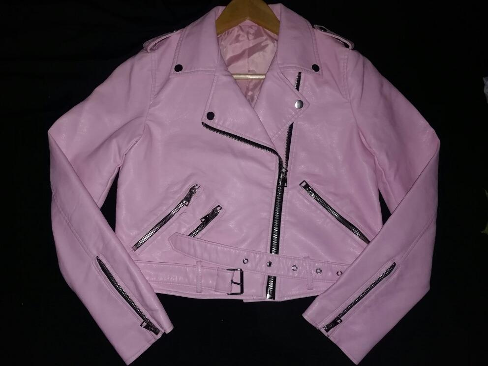 f6d5a36db30e campera de cuero rosa. Cargando zoom.