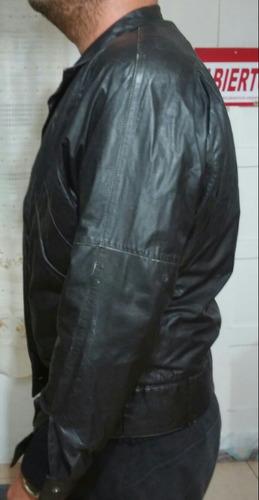 campera de hombre cuero negro  l o xl -