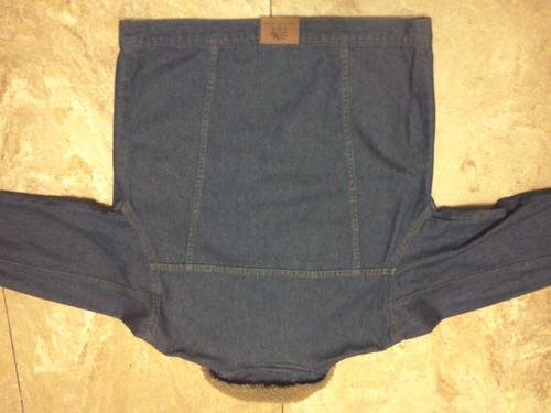campera de jean con corderito