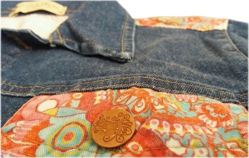 campera de jean para nena modelo desigual