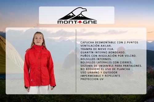 campera de mujer valery montagne sky impermeable capucha