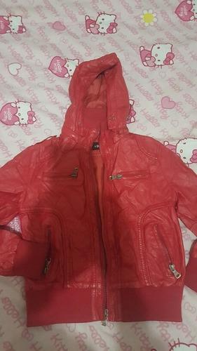 campera de nena t8 roja