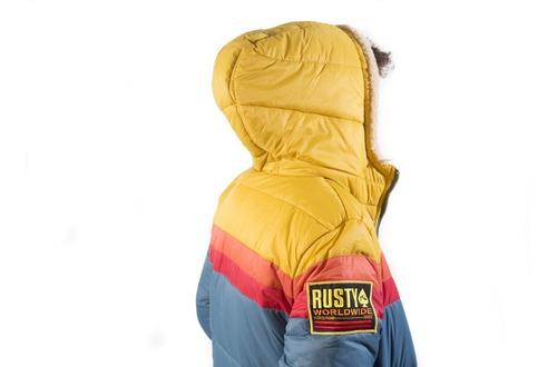 campera de niño con abrigo rusty monster cool jr talle 14