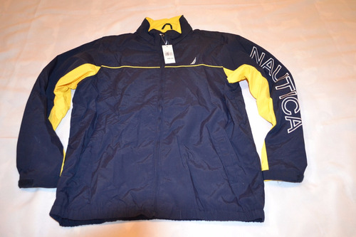campera de niño con capucha y bolsillos   marca nautica