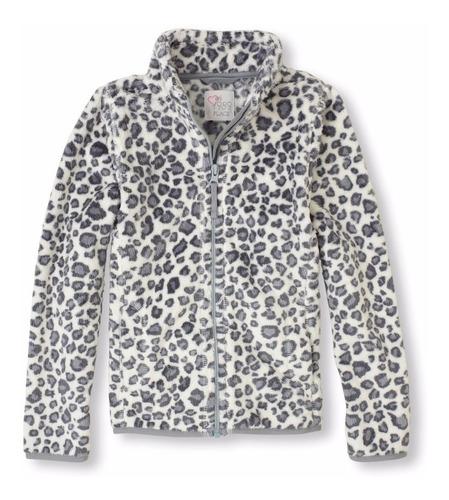campera de piel animal print leopardo - childrens place