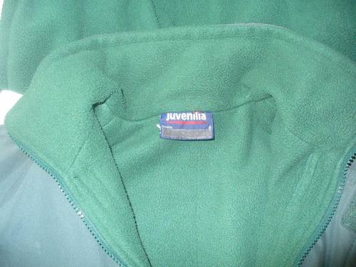 campera escolar verde juvenilia con polar talle 6