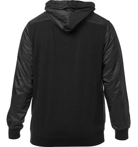 campera fox liviana axle zip fleece negra solomototeam