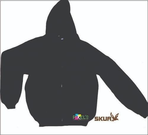 campera friza invisible c/capucha adultos