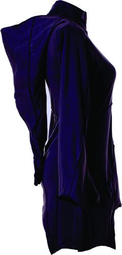 campera gotica dark hoodie mujer moda evasé campana lycra