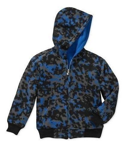 campera hoodie polar reversible importada doble tela