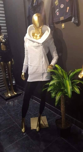 campera hoodies mujer hoddie capucha corderito buzo camperon