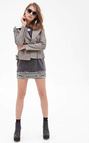 campera importada abrigo forever 21 chaqueta eco cuero