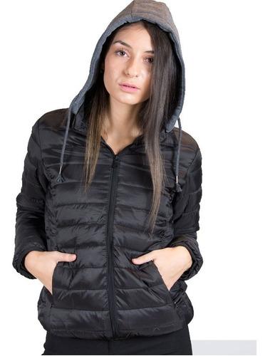 campera inflada mujer super liviana con capucha calidad