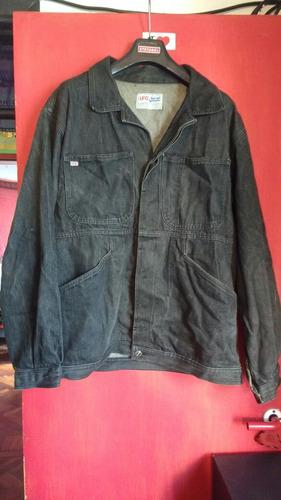 campera jean negro gris oscuro talle xl
