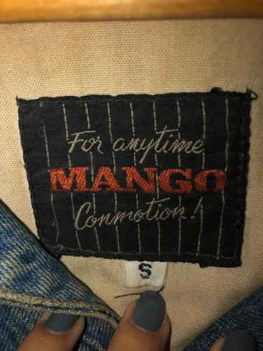 campera jean y cuero - vintage - mango - mb
