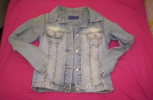 campera jeans husky t24 estilo gastada azul¡¡¡use en desfile