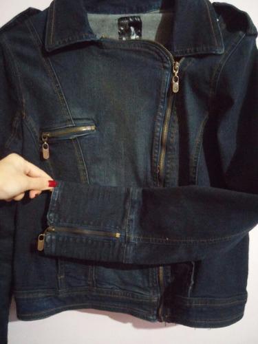 campera jeans stone l-- mujer