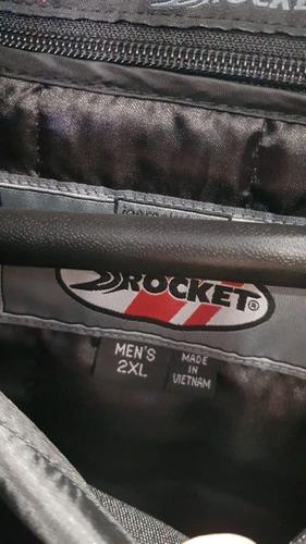 campera joe rocket 5.0 atomic xl proteccion roja honda av