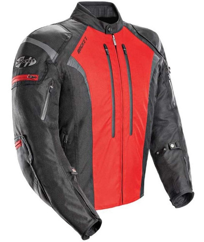 campera joe rocket atomic 5.0 cordura proteccion roja yuhmak