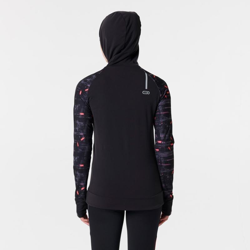 campera jogging mujer run warm hood negro rojo coral. Cargando zoom. c112dfc87b98