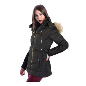 Campera Larga Impermeable Rompeviento Mujer Nofret