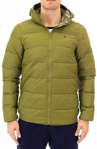 campera  le coq sportif  puff light reversible hombres