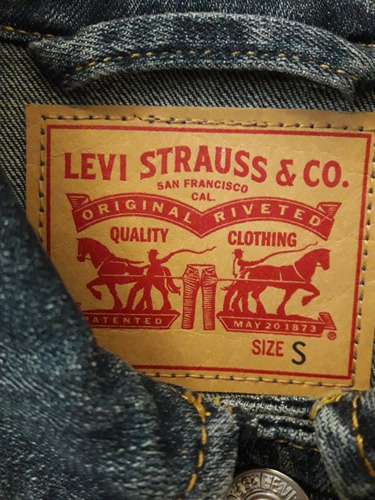 campera levi's mujer talle s entallada impecable!