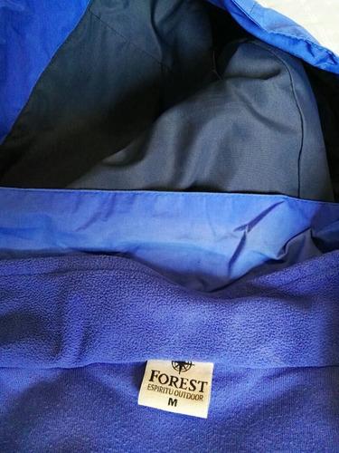 campera marca forest con campera de polar desmontabl talle m