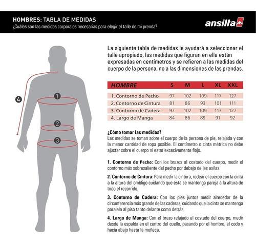 campera micropolar microfibra termica hombre ansilta ergo 2