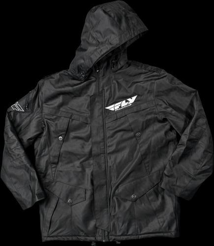 campera moto casual fly racing storm negra xl solomototeam