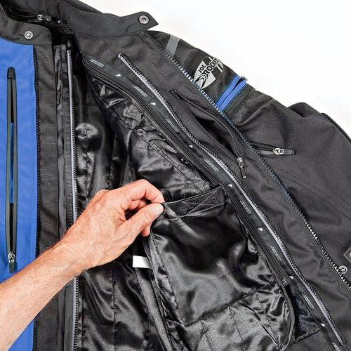 campera moto joe rocket atomic 5.0 azul protecciones - um