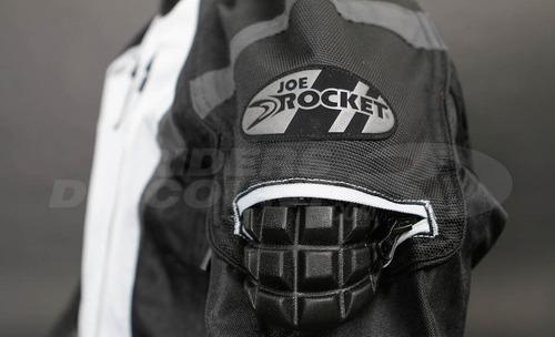 campera moto joe rocket atomic 5.0 rojo protecciones