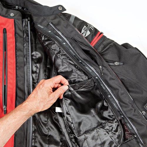 campera moto joe rocket atomic 5.0 rojo protecciones - um