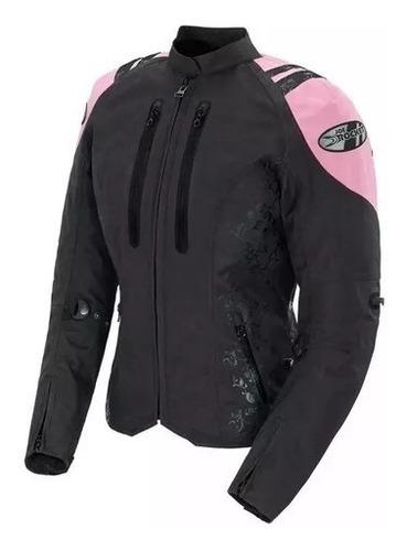 campera moto joe rocket atomic lady rosa proteccion yuhmak