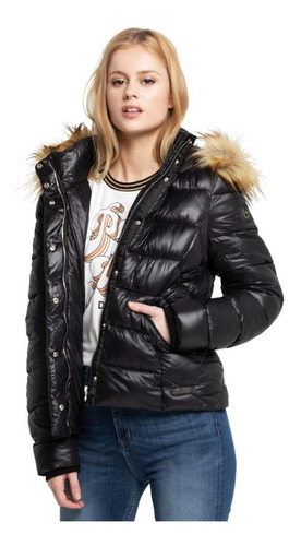 campera mujer cloud black puffer rusty