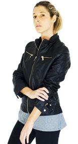 Campera Mujer Cueroeco Importada Capucha Chelseamarket Dots