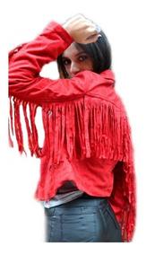 51767be02 Campera Mujer Gamuzada Flecos Cierre Otoño Invierno 2019