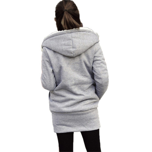 campera mujer hoodie buzo capucha c/piel
